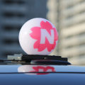 SNSで話題の「#幸運のタクシー」!桜色の行灯タクシーに乗ると記念乗車証がもらえる!